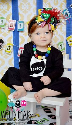 UNO First Birthday Girl Flare Leg Pant Set  by birthdaycouture