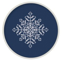 Snowflake Cross Stitch Pattern Holiday Project by MagicCrossStitch