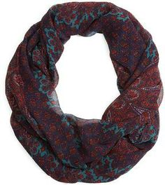 Crinkled Paisley Silk Chiffon Loop Scarf on shopstyle.com