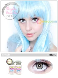 Angelic Princess Eye Gray Color Contact Lens - Circle Contact Lens - Cosmetic Contact Lens - Colored Contacts - HoneyColor.com