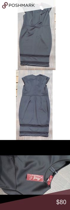 """Monif C Kendal Cap Mesh Insert Dress NWT Length - 49"""" from Shoulder - Darted bust Full Invisible back zipper - 90% Polyester, 10% - BRAND NEW WITH TAGS - Size 18/20 Monif C. Dresses"""