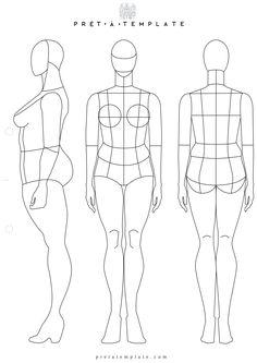 Plus Size Fashion body figure (D-I-Y your own Fashion Sketchbook) (Keywords: Fashion, Illustration, drawing, design, tool, App)