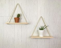 These hanging planters (set of 2) are the ultimate in tasteful, minimalist home decor and storage. Made with only select, solid, hard Maple, they are a beautiful accent or even centerpiece for any room in your home. Classic design - clean, simple aesthetic. Each shelf is