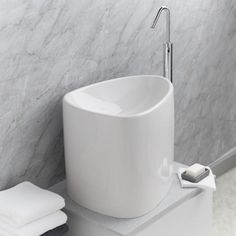 Garda White Ceramic Half Counter Top Deep Basin