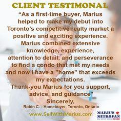 Client Testimonials @Marius Mitrofan Real Estate Broker@remax