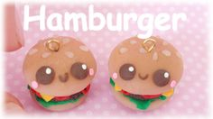 DIY Hamburger Kawaii Clay Charm Tutorial