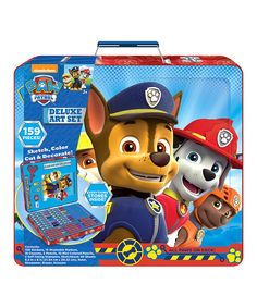Another great find on #zulily! Paw Patrol Deluxe Art Set by PAW Patrol #zulilyfinds