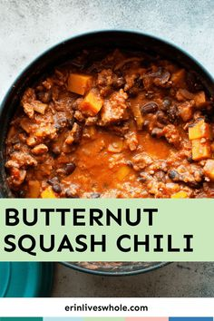 Healthy Soup Recipes, Chili Recipes, Healthy Cooking, Healthy Eats, Veggie Noodle Soup, Harvest Salad, Chili Ingredients, Chicken And Butternut Squash, Clean Eating Chicken