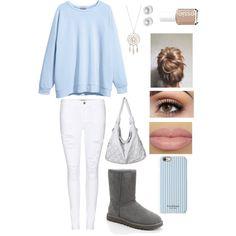 Winter Wonderland by akb4572 on Polyvore featuring polyvore, fashion, style, H&M, Frame Denim, UGG Australia, Nouv-Elle, Isaac Mizrahi and Essie