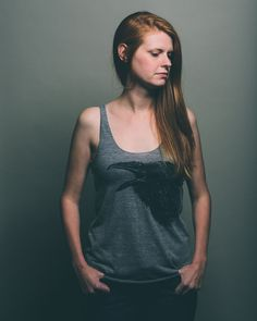 Raven Call / Screen Printed Tank / Women's cut by Wolfpups