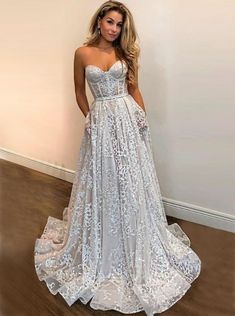 long prom dresses - strapless long prom dress,sexy evening dress,charming evening dress,lace party dress from Butterfly Love Pretty Dresses, Sexy Dresses, Beautiful Dresses, Prom Dresses, Dress Prom, Long Dresses, Party Dress, Sweetheart Prom Dress, Elegant Dresses