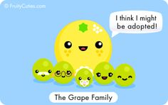 Grapefruit - Cute jokes with Kawaii Fruit cartoons Cute Cartoon Food, Fruit Cartoon, Cute Food, Funny Fruit, Cute Fruit, Kawaii Fruit, Cute Jokes, Japanese Love, Kawaii Illustration