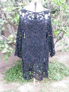 Crochet lace tunic, free crochet pattern.