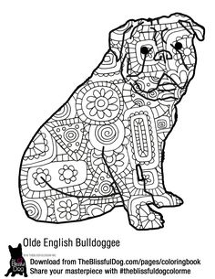 Have a blast coloring your Olde English Bulldogge! Get all 60+ breeds from link below...
