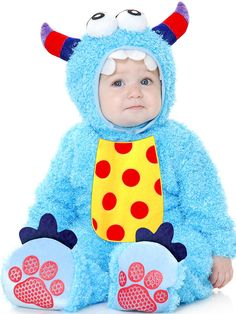 Baby Mini Monster Blue Costume   Wholesale Monster Costumes for Infants & Toddlers