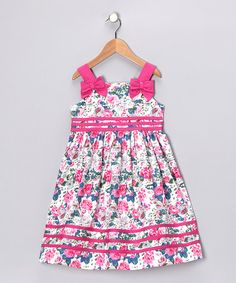 Take a look at this Hot Pink Rose Bow Dress - Infant, Toddler & Girls by Donita on #zulily today! Izzie...pretty in pink!!!