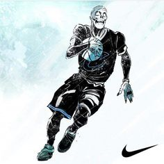 That boy Kyrie Irving is a killer on the court ☠️ #Posterizes featured art by karmoruu
