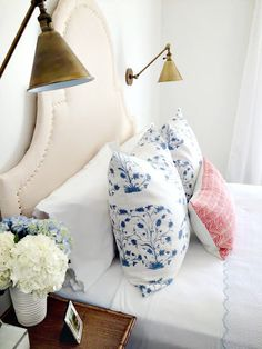 Green Street: DIY Upholstered Scalloped Headboard with Nailhead