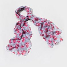 Chain and Skull Pattern Metallic Scarf | Claire's