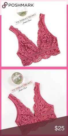 •Victoria's Secret• Lace bralette V I C T O R I A 'S ✦ S E C R E T    ❈ Condition: New with tags  ❈ Reasonable Offers Always Welcome!  ❈ Fast shipping Monday⇢Friday  Same/Next day after your purchase  ❈ Questions? Please comment below,  I will be more than happy to assist you ☻  ❈ Bundles are always encouraged to save on shipping!   ❈Thank you for stopping by! Hope to have you as a customer or returning customer   xo ღ Jennifer Victoria's Secret Intimates & Sleepwear Bras
