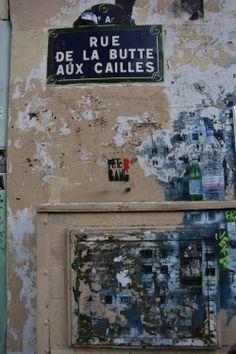 ©Vincent Brun Hannay Paris Les Gobelins, Paris Francia, Rues, Pure Romance, Street Signs, Paris Street, Tag Art, Provence, Memories