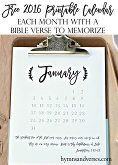2016 Printable Planner & Calendar - Hymns and Verses Free Printable Calendar, Printable Planner, Free Printables, Printable Art, Planner Tips, Journal Inspiration, Journal Ideas, Bullet Journal Layout, Craft Business
