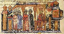 Sviatoslav I of Kiev - Sviatoslav had several children, but the origin of his wives is not specified in the chronicle. By his wives, he had Yaropolk and Oleg.[16] By Malusha, a woman of indeterminate origins,[17] Sviatoslav had Vladimir, who would ultimately break with his father's paganism and convert Rus' to Christianity.