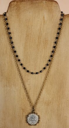 Acacia-Black #juliodesigns #fall #fashion #jewelry #necklace #style #accessories #trend #silver #gold