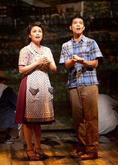 Telly Leung with Lea Salonga and Telly in the new American musical ALLEGIANCE at the Old Globe Theatre in San Diego (also starring George Takei)