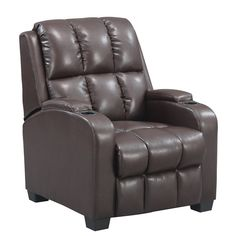 Feel like you are surrounded in luxury while immersed in a movie or favorite TV show in the Dorel Living Home Theater Recliner. With convenient cupholders for your favorite beverage just add popcorn and you're ready for the show.