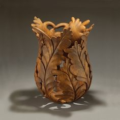 Wood Art Fern Basket by Ron Fleming - Try this on a Gourd Bottle Top