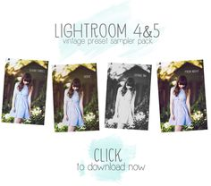 FREE  vintage presets for Lightroom 4&5 #twoblooms