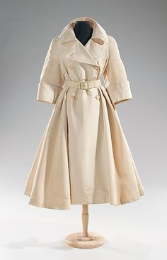 Coat, Norman Norell, 1955. Make it black or blue and I'll take it in a heartbeat. Or red.