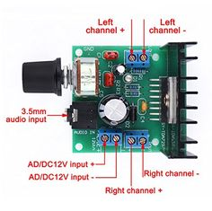 DROK® TDA7297 Mini Digital Amplifier Stereo Audio Ampli Electro 12 Volt Amp Board Wireless Amplify Module 15W+15W Dual Channel Power for Car Vehicle Auto Speaker