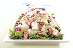 What sets a Waldorf salad apart from all others is the combination of fresh…