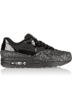 085a0056b066 Nike - Air Max 1 metallic bouclé and patent-leather sneakers