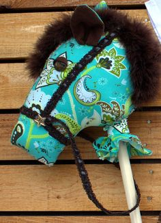 Filly Stick Horse Turquoise Paisley by FillySticks on Etsy, $55.00 Horse Tail, Stick Horses, How To Make Earrings, Kid Stuff, Derby, Paisley, Winter Hats, Design Inspiration, Turquoise