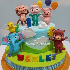 Images about #cocomeloncake on Instagram 2nd Birthday Party For Boys, Jungle Theme Birthday, 1st Birthday Decorations, Baby Birthday Cakes, Carnival Birthday Parties, 1st Boy Birthday, Melon Cake, Google, Instagram