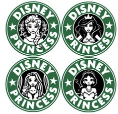 Disney Princess Starbucks Decal by SimpleNChicBoutique on Etsy Disney Logo, Disney Decals, Disney Diy, Disney Crafts, Disney Fonts, Disney Starbucks, Starbucks Logo, Starbucks Coffee, Vinyl Crafts