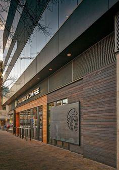 3rd & Lavaca Starbucks Cafe | Exterior Elevation