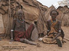 https://flic.kr/p/4RnuSu | Village life | Two old woman in the village. Dassanetch tribe in the Lower Omo Valley, Southern Ethiopia 2007.  More pictures at: Images of the World