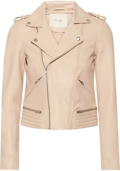 Madetoblush.com Maje - Leather Biker Jacket - Blush