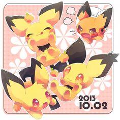 Pichu Pikachu Raichu, Cute Pikachu, Pokemon Manga, Pokemon Images, Pokemon Pictures, Unique Cards, Feature Film, Chibi, Home