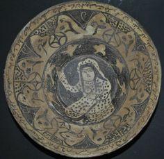 ANTIQUE PERSIAN IRAN NISHAPUR FIGURAL POTTERY CERAMIC BOWL ISLAMIC | eBay