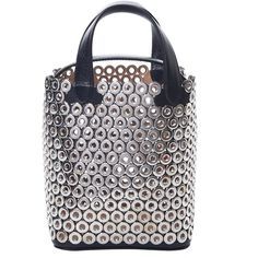 Azzedine Alaïa Eyelet-Embellished Leather Tote (€1.830) ❤ liked on Polyvore featuring bags, handbags, tote bags, bags /, kirna zabete, shoulder bags, shoulder bag tote, leather tote, tote purses and genuine leather handbags