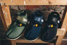 """取汲日本傳統鞋款""""地下足袋""""概念 以高靈活性良好抓地力的特點廣受流傳, 這次Suicoke以最擅長的涼鞋加以揉合 鞋底與中底皆使用知名的Vibram產品 並加強足弓與後跟的支撐性, 完美融合傳統文化與現代機能的風格分趾涼鞋!"""