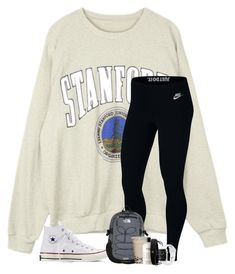 A fashion look from March 2018 featuring NIKE activewear pants, Converse sneakers and lululemon hair accessories. Browse and shop related looks. Cute Lazy Outfits, Cute Outfits For School, Teenage Girl Outfits, Sporty Outfits, Athletic Outfits, Teen Fashion Outfits, Outfits For Teens, Look Fashion, Trendy Outfits