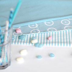 MINISTRIPE, Aqua/ Vanilla | NOSH Fabrics Spring & Summer 2016 Collection - Shop at en.nosh.fi | Kevään 2016 malliston kankaat saatavilla nyt nosh.fi