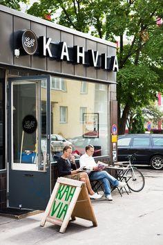 #Koffie drinken doe je bij Kahvia in #Helsinki.