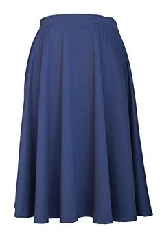 JC Womens Elastic Waist Midi Long Flare Pleated Small to Plus Size Skirt Made in USA 3XL Plus Navy ** Be sure to check out this awesome product.Note:It is affiliate link to Amazon.